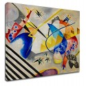 The framework Kandinsky - White Center - WASSILY KANDINSKY's White Center Painting print on canvas with or without frame