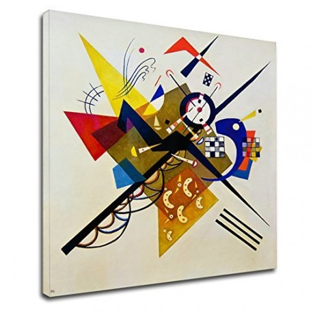 The framework Kandinsky - On White II - WASSILY KANDINSKY On White II Painting print on canvas with or without frame