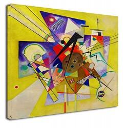 El marco de Kandinsky que Acompaña Amarillo WASSILY KANDINSKY Amarillo Accompainment Pintar imprimir en lienzo, con o sin marco