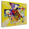 The framework Kandinsky Accompanying Yellow WASSILY KANDINSKY Yellow Accompainment Painting print on canvas with or without
