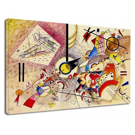 The framework Kandinsky - Animals - WASSILY KANDINSKY Animals Picture print on canvas with or without frame