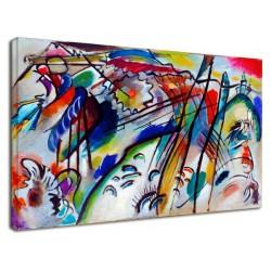 The framework Kandinsky - Improvisation 28 II - WASSILY KANDINSKY Improvisation 28 II Painting print on canvas with or without
