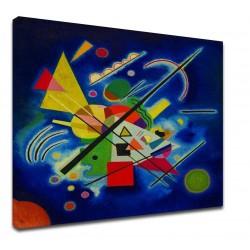 Le cadre Kandinsky - Peinture-Bleu - WASSILY KANDINSKY-Bleu Peinture d'impression d'Image sur la toile, avec ou sans cadre