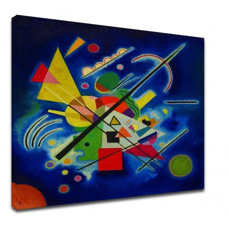 The framework Kandinsky - Painting-Blue - WASSILY KANDINSKY-Blue Painting Picture print on canvas with or without frame