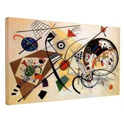 Le cadre Kandinsky - Ligne Ininterrompue - WASSILY KANDINSKY Ligne Ininterrompue de Peinture d'impression sur toile avec ou