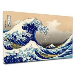 Peinture - La grande Vague de Kanagawa - HOKUSAI, La Grande Vague de Kanagawa de Peinture d'impression sur toile avec ou sans