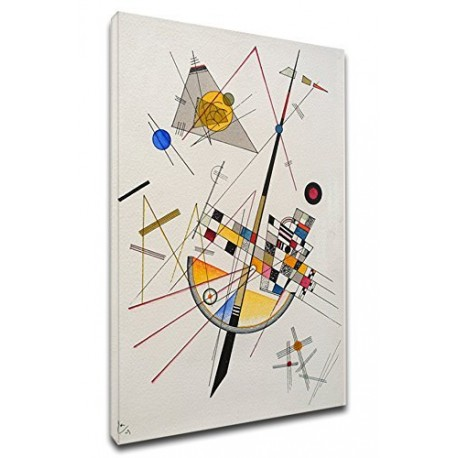 The framework Kandinsky - Tension Delicate - WASSILY KANDINSKY Delicate Tension - Framework print on canvas with or without
