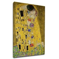 Quadro Klimt - Il Bacio - KLIMT The Kiss (Lovers) Quadro stampa su tela canvas con o senza telaio