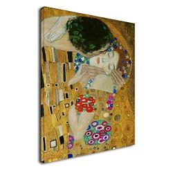 Le cadre Klimt - Le Baiser 2 - KLIMT: Le Baiser (Amoureux) de la Peinture d'impression sur toile avec ou sans cadre