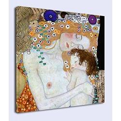 Quadro Klimt - Madre e Bambino - KLIMT Mother and Child Quadro stampa su tela canvas con o senza telaio