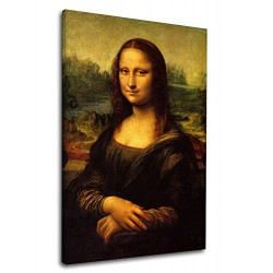 The framework Leonardo Da Vinci - Mona Lisa - Leonardo's La Gioconda Painting print on canvas with or without frame