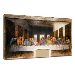 The framework Leonardo Da Vinci - The last Supper - Leonardo - Painting print on canvas with or without frame