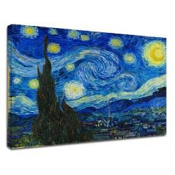 La peinture de Van Gogh - Nuit Étoilée - Peinture impression sur toile avec ou sans cadre