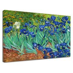 Image Van Gogh - Iris - les Iris de Van Gogh Peinture d'impression sur toile avec ou sans cadre