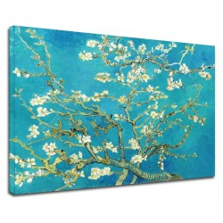 La peinture de Van Gogh - Amande Branche de Fleurs - Photo impression sur toile avec ou sans cadre