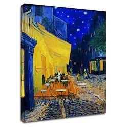 La pintura de Van Gogh - Terraza del café en la Tarde de Pintar imprimir en lienzo, con o sin marco