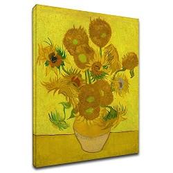 La pintura de Van Gogh - Girasoles - Pintura-impresión en lienzo con o sin marco