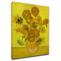 Painting Van Gogh - Sunflowers - Painting-print on canvas with or without frame