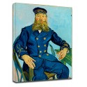Painting Van Gogh - The Postman Joseph Roulin - Picture print on canvas with or without frame
