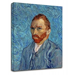 Painting Van Gogh - self - Portrait- Painting-print on canvas with or without frame