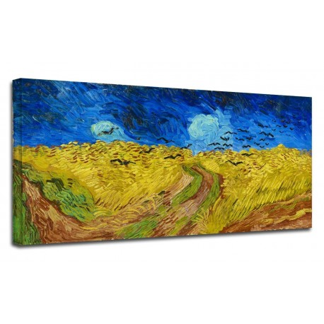 Painting Van Gogh - cornfield with Flight of Crows - Picture print on canvas with or without frame