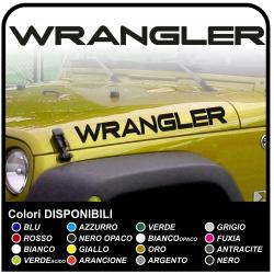 adesivi scritta WRANGLER per cofano wrangler jeep  wrangler