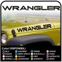 stickers written WRANGLER for hood for wrangler jeep wrangler
