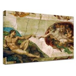 Photo michel-ange - la Création d'Adam - Michelangelo Buonarroti Peinture d'impression sur toile avec ou sans cadre