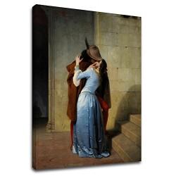 La pintura de Francesco Hayez - El Beso - impresión de Fotografía en lienzo, con o sin marco
