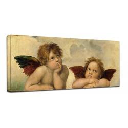 La pintura de Rafael, Ángeles, Virgen Sixtina Cherubini - impresión de Fotografía en lienzo, con o sin marco