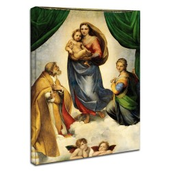 Quadro Raffaello - Madonna con il Bambino - Madonna with Child - Quadro stampa su tela canvas con o senza telaio