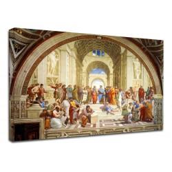 Quadro Raffaello - Scuola di Atene - School of Athens - Quadro stampa su tela canvas con o senza telaio