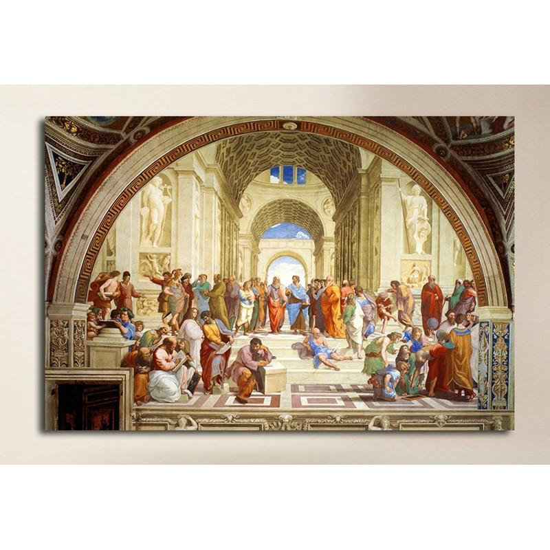 Cadre Raphael L Ecole D Athenes Ecole D Athenes De Peinture D Impression Sur Toile Avec