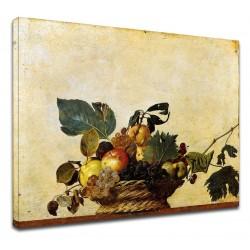 Image Caravage - corbeille de Fruits - nature morte - Peinture impression sur toile avec ou sans cadre