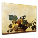 Picture Caravaggio - Basket of Fruit - still life - Painting print on canvas with or without frame