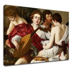 La pintura de Caravaggio - Los Músicos - el Concierto de miguel ángel Merisi - impresión de Fotografía en lienzo, con o sin