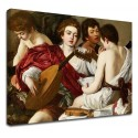 Painting by Caravaggio - The Musicians - the Concert of Michelangelo Merisi - Picture print on canvas with or without frame