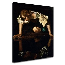 Picture Caravaggio - Narciso - Michelangelo Merisi - Picture print on canvas with or without frame