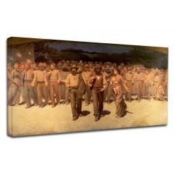 Quadro Giuseppe Pelizza da Volpedo - Il Quarto Stato - Quadro stampa su tela canvas con o senza telaio