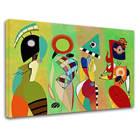 The framework Kandinsky - Las Musas - WASSILY KANDINSKY - Painting-print on canvas with or without frame