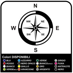 Adhesives-wind Rose Compass Sticker for Jeep 4X4 stickers decals