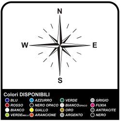Adhésifs-Rose des vents de la Boussole Autocollant pour SUV, 4X4, camping-car, caravane et hors route Côtés, le Capot de