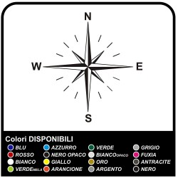 Adhesives-wind Rose Compass Sticker for SUV 4X4 motorhome, caravan and off-road Sides, the Hood Goalkeeper stickers decals