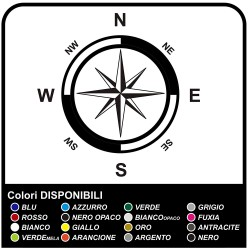 Adhesives-wind Rose Compass Sticker for suv rv and caravan stickers decals
