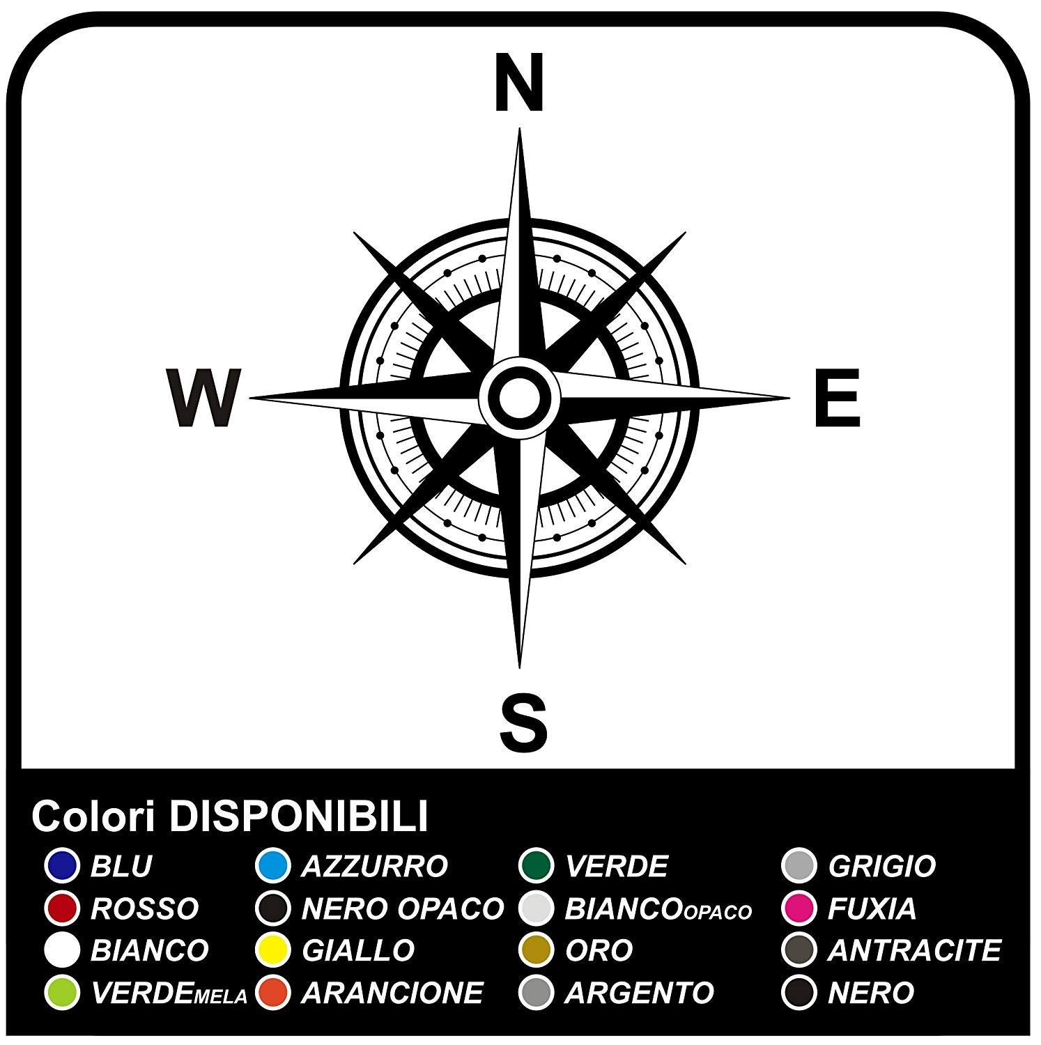 Adhesives Wind Rose Compass Sticker For 4x4 Vehicle Sides The Hood Goalkeeper Offroad Decals Stickers Sides