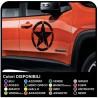 KIT 2 STICKERS door star military worn effect Jeep CJ CJ3 CJ5 CJ7 CJ8, US ARMY OFFROAD SUV