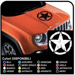 adesivi per cofano wrangler jeep us army stella con teschio adesivi renegade jeep stella militare us army Willys