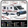 Autocollants LE kit complet de graphiques de vinyle autocollants décalques rayures camping-car, CARAVANE - graphiques 04