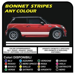 adhesive side MINI cooper graphics, mini stripes MINI COOPER S ONE JCW 1.4 1.6 COUNTRYMAN ONE and OTHER MINI