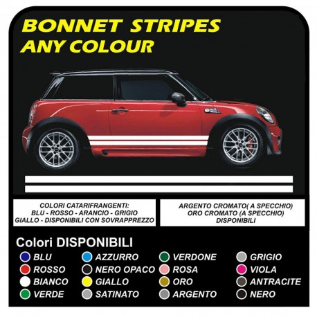Adhesive Side Mini Cooper Graphics Mini Stripes Mini Cooper S One Jcw 14 16 Countryman One And Other Mini